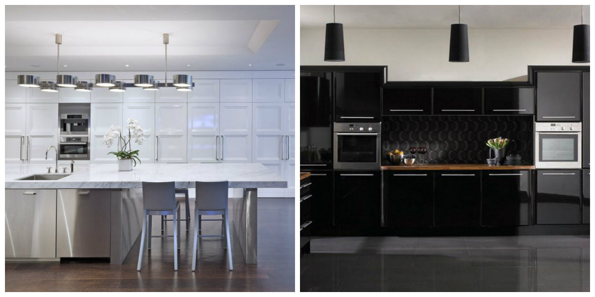 popular kitchen colors 2019, black kitchen, gray kitchen
