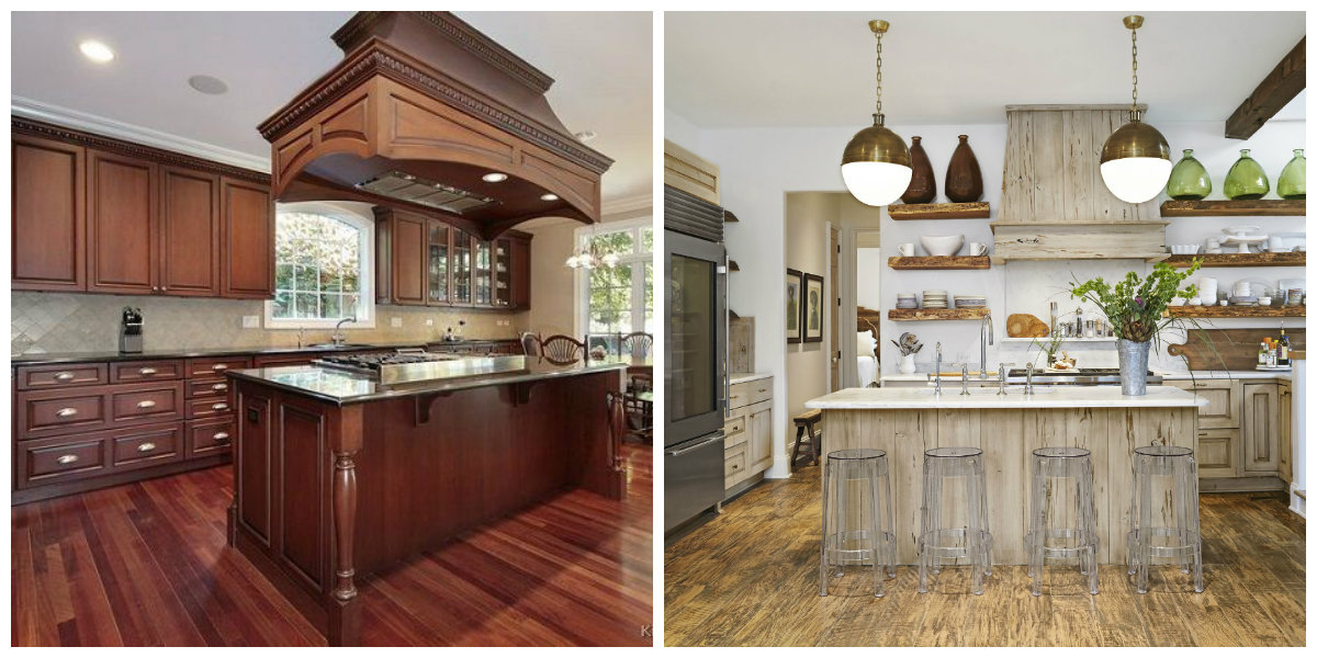 popular kitchen colors 2019, woody shades in popular kitchen colors 2019