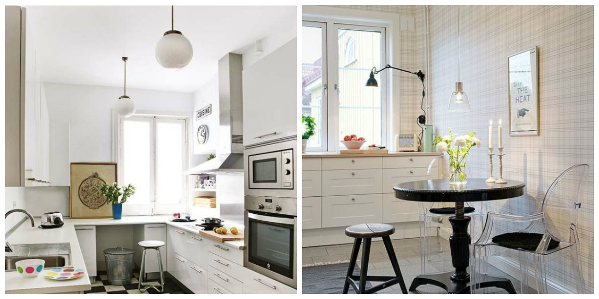 small kitchen designs 2019, uniform lighting in small kitchen designs 2019