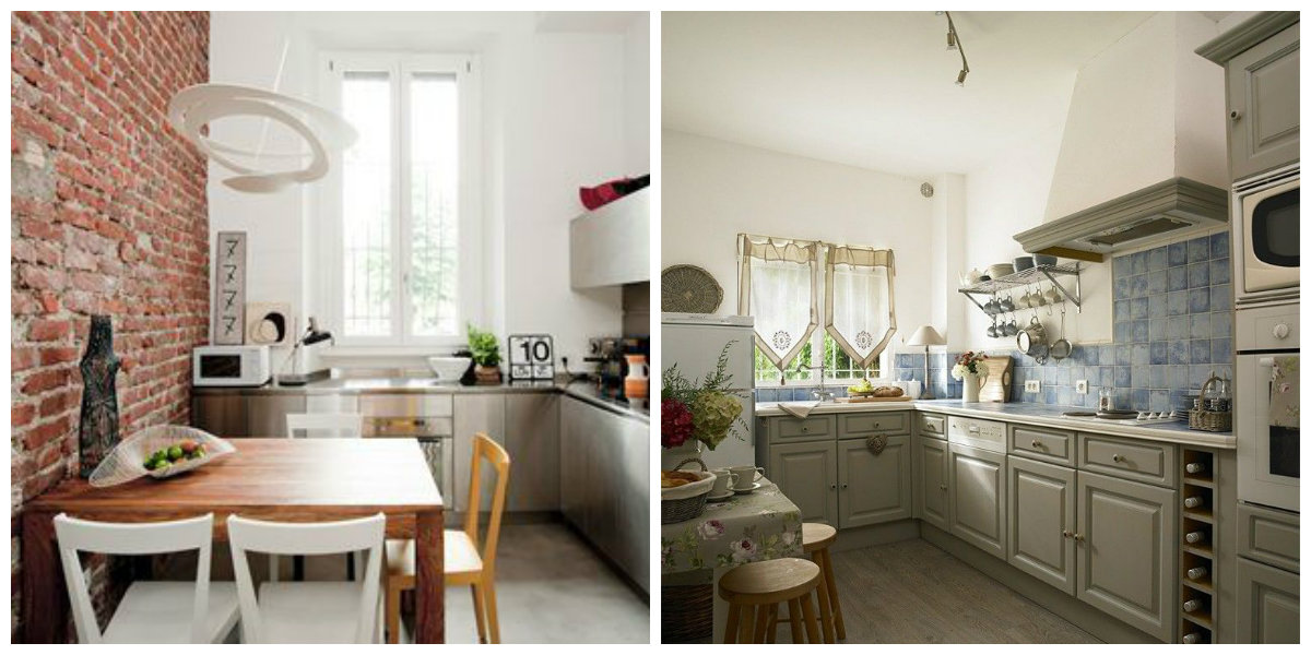 small kitchen ideas 2019, loft kitchen, Provence style kitchen