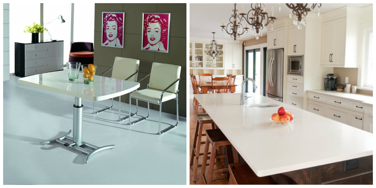 white kitchen cabinets 2019, light table in white kitchen design